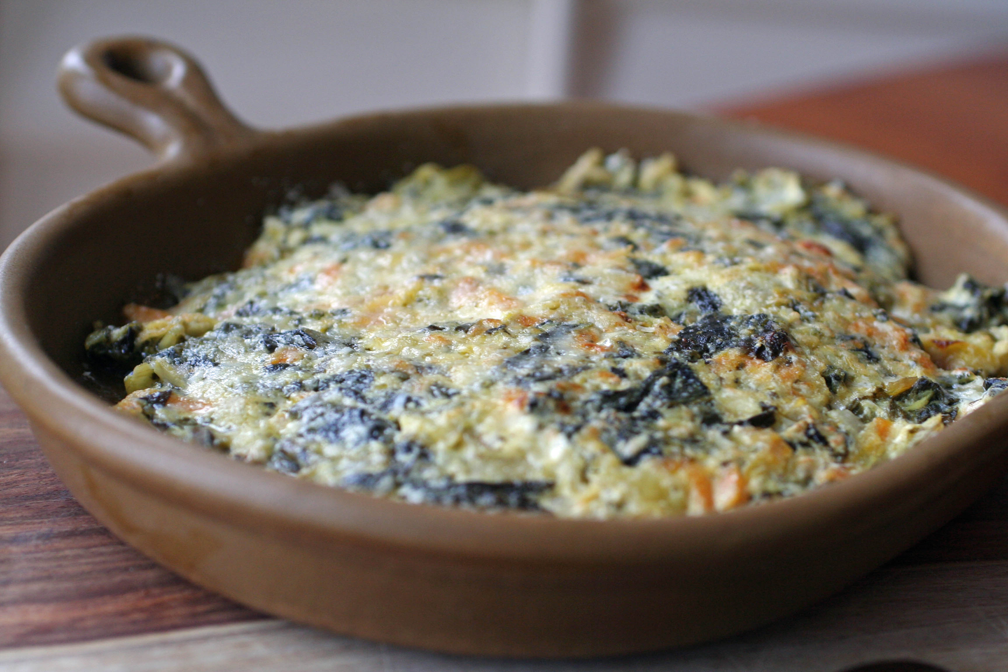 Emerald City Baked Artichoke and Kale Dip